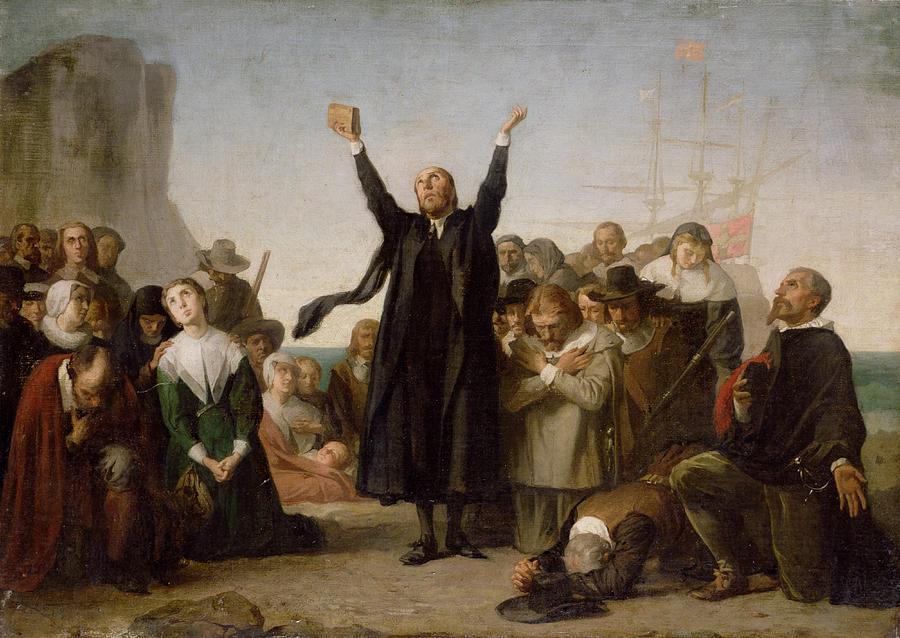 The arrival of the Pilgrim Fathers by Antonio Gisbert.jpg