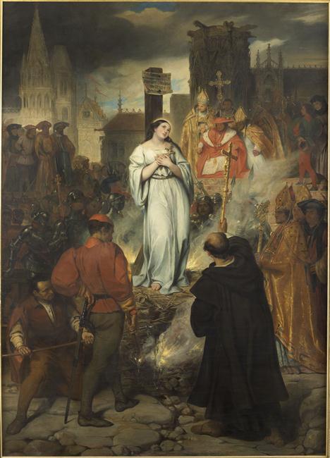 La mort de Jeanne d'Arc Déveria Eugène 1829 musées des Beaux-Arts Angers