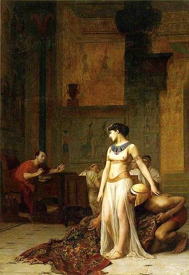 Cléopâtre devant César
