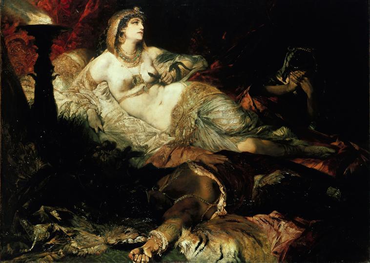 La mort de Cléopâtre, Makart Hans, XIXe, Louvre.jpg