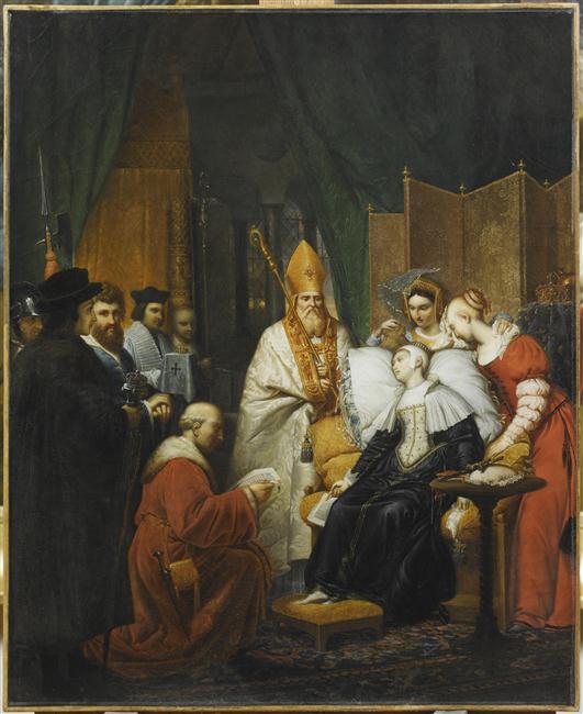 Bergeret Pierre Nolasque, Anne Boleyn condamnée à mort, XIXe,