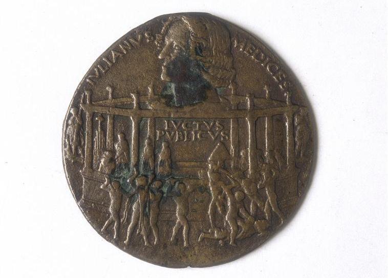 (Attribué à) Bertoldo di Giovanni, Conjuration des Pazzi médaille, Galleria Estense, Modène, RMN-Grand Palais Finsiel Alinari