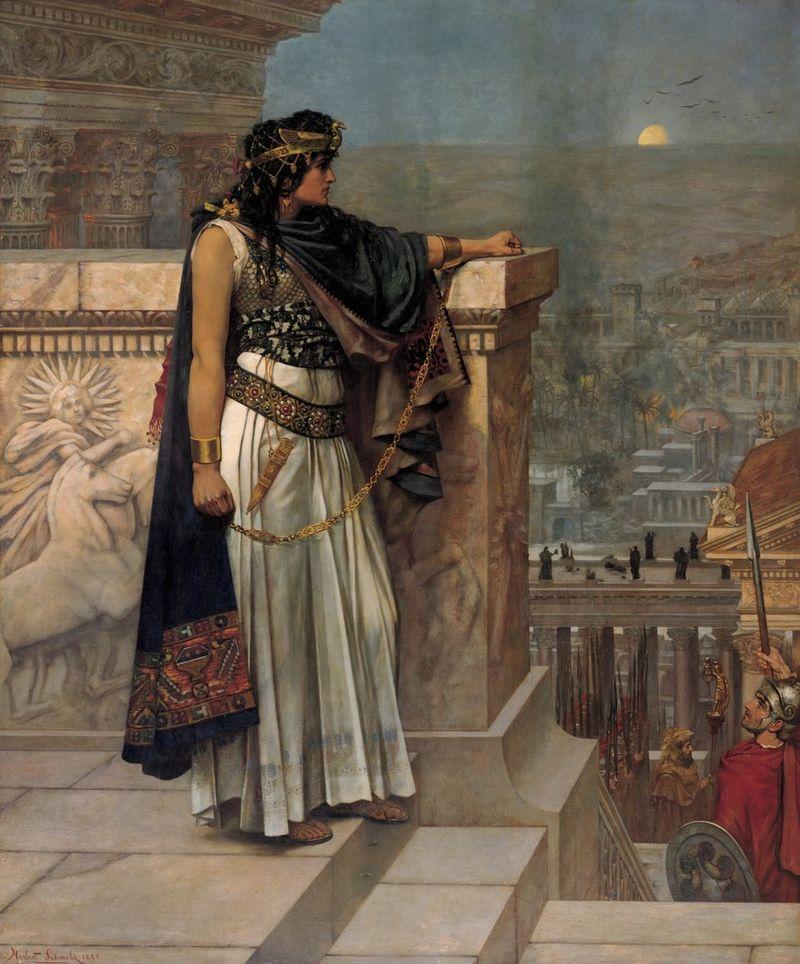 Herbert Schmalz, Dernier regard de la reine Zénobie sur Palmyre