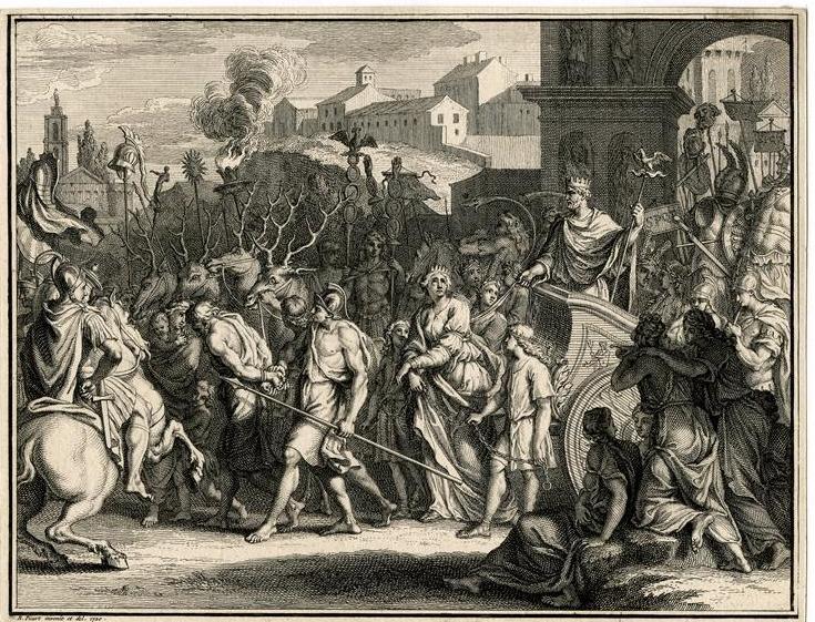 Picart Bernard, Triomphe d'Aurélien faisant prisonnière Zénobie, RMN