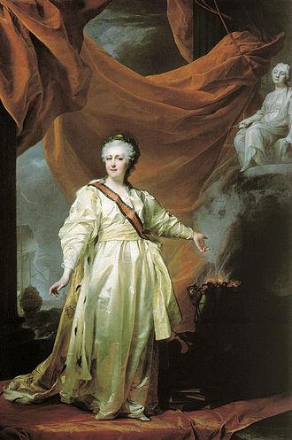 Portrait de Catherine II de Russie par Dmitri Levitsky, années 1780.jpg