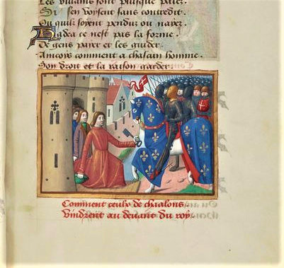 Martial d'Auvergne, Français 5054, fol. 63, Reddition de Châlons-sur-Marne (1429), 1484.png