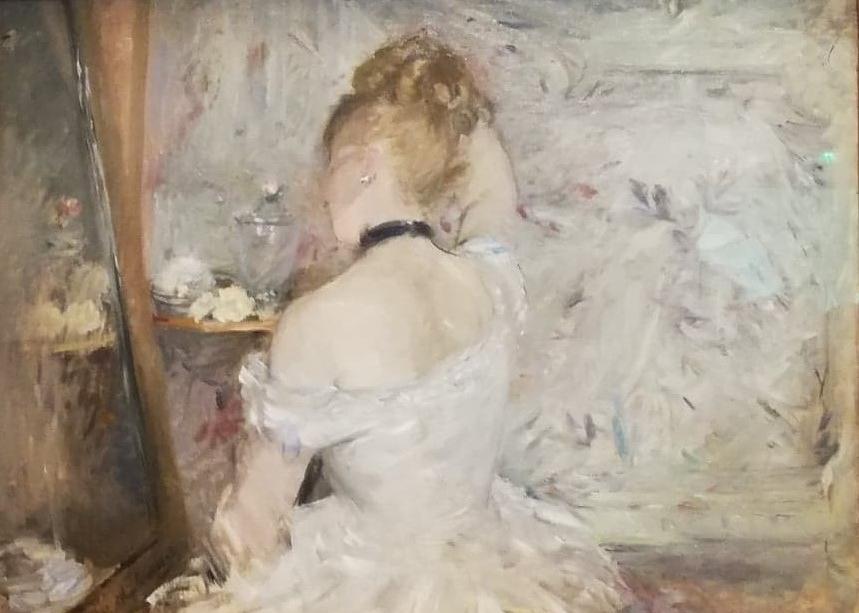 Morisot Article Jeune Femme à sa toilette, 1875